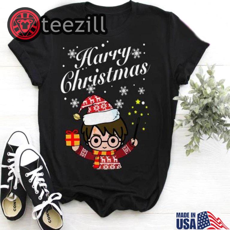 Harry Potter Christmas Shirt.Merry Christmas Harry Potter Harry Christmas Shirt