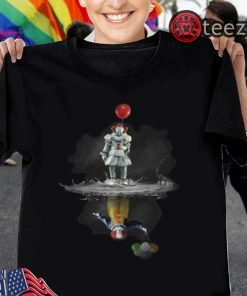 Pennywise reflection Water mirror Stephen King's IT The Clown Tshirt