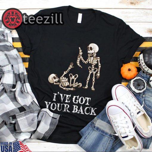 Skeleton Ive Got Your Back Halloween Shirt