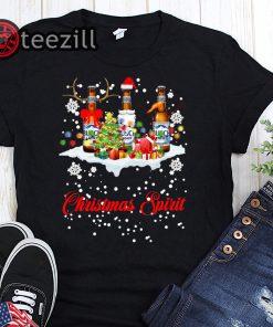 Spirit pabst busch light christmas shirt