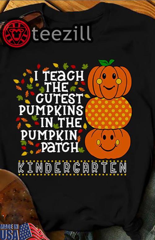 I Teach The Cutest Pumpkins In The Patch High School Teacher Cute Pumpkin Faces Halloween T Shirt