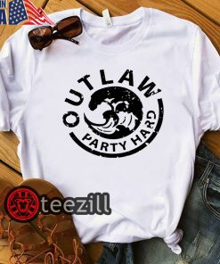 WHITE OUTLAW PARTY HARD SHIRT
