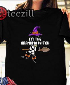 Women I'm The Grandma Witch Halloween Shirt