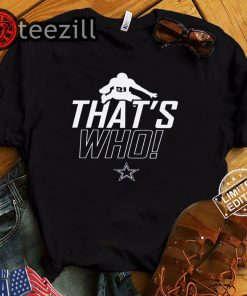 ZEKE WHO - THAT'S WHO SHIRT Zeke Who Ezekiel Elliott - Dallas Cowboys T-Shirts
