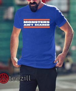 Monsters Ain't Scare Chicago Bears Shirt