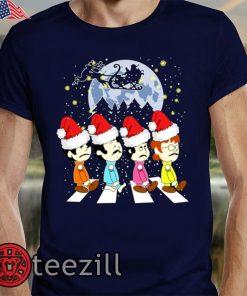 Beatles Crossing Street Christmas TShirts