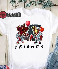 Friends tv show stranger things demogorgon pennywise it shirt