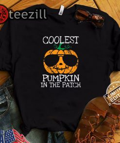Halloween Coolest Pumpkin In The Patch Costume Shirt