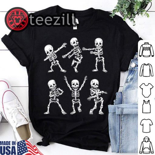 Halloween Dancing Skeletons Dance Challenge Shirt