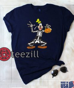Halloween Goofy Skeleton Shirt