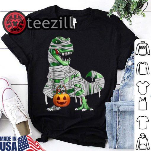 Halloween Pumpkin Dinosaur Gift Shirt