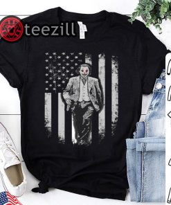 American Flag Shirt Joker walking on American Flag Shirt