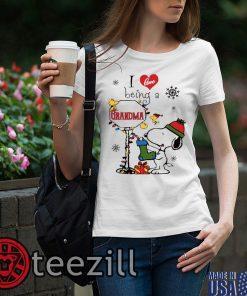 Merry Christmas Snoopy I Love Being A Grandma Shirt Unisex