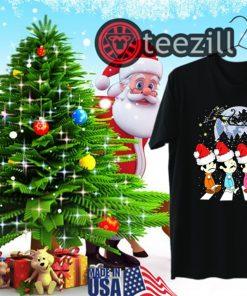 Merry Christmas The Beatles Crossing Street Christmas Shirt