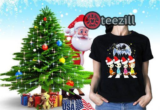 Merry Christmas The Beatles Crossing Street Christmas Shirt Classic