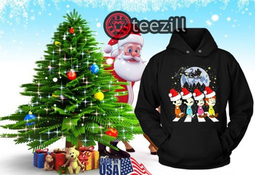 Merry Christmas The Beatles Crossing Street Christmas Shirt Hoodies