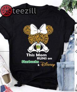 Minnie Mouse this mom runs on Starbucks & Disney Tshirts