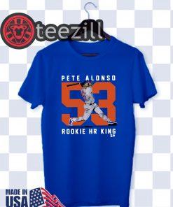 Pete Alonso Shirt, Rookie Home Run King, MLBPA Tshirt