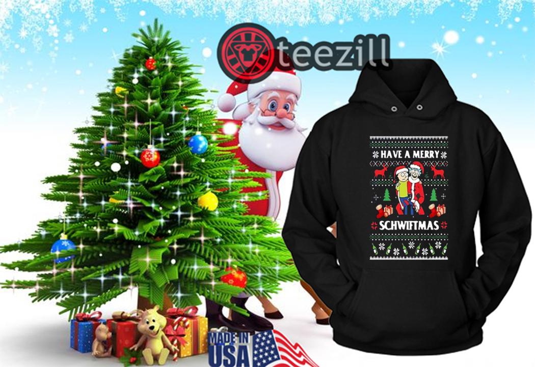 Christmas Hoodies.Rick And Morty Have A Merry Schwiftmas Ugly Christmas Tshirt Teezill