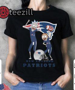 Rick and Morty New England Patriots Tshirt