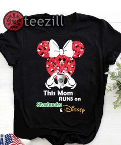 Mickey And Minnie Mouse This Mom Runs On Starbucks Shirt