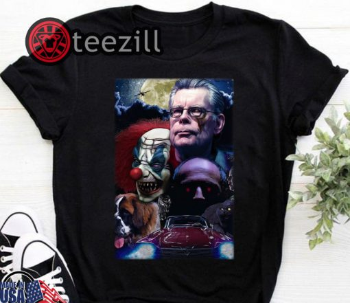 Stephen King Horror King Writers Tshirt