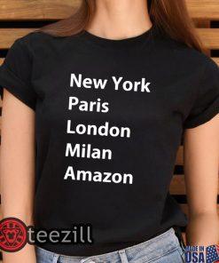 Black Heidi Klum New York Paris London Milan Amazon Shirt