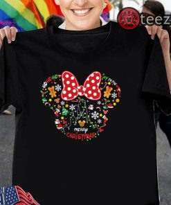 Minnie mouse joy to the world Merry Christmas Tshirt