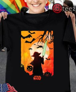 Star Wars Yoda Silhouette Halloween T-Shirt