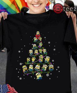 Awesome Minion Christmas Tree Merry Xmas Tshirt