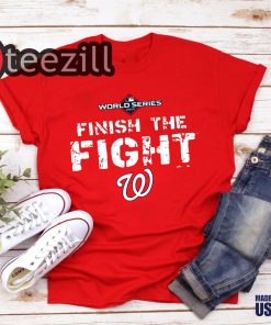 2019 World Series On-Field 'Finish the Fight' Washington Nationals Shirt