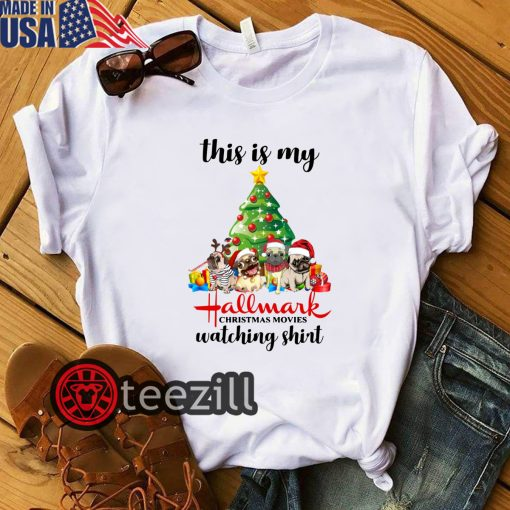 This Is My Hallmark Christmas Movies Pugs Dog Christmas Tree Shirts
