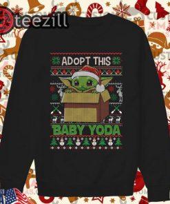 Adopt this baby Yoda Ugly Christmas Sweat T-shirt