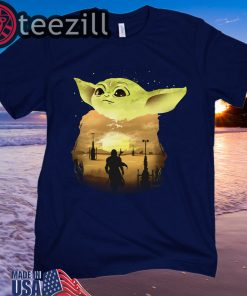 Baby Yoda Sunset Shirt Limited Edition Tee