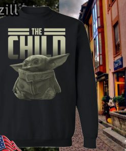 Black The Mandalorian Baby Yoda The Child SweatShirt