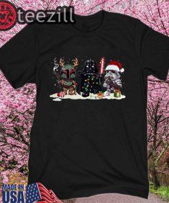 Boba Fett Darth Vader and Stormtrooper Christmas Shirts