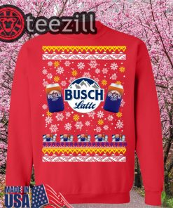 Busch Latte Beer Ugly Christmas Sweatershirts