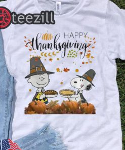 Charlie Brown And Snoopy Peanuts Happy Thanksgiving Tshirt