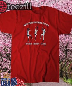 Eddie Rosario, Byron Buxton and Max Kepler Brothers Shirts