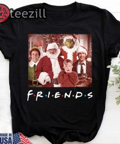 Friends tv show christmas movie characters t-shirt