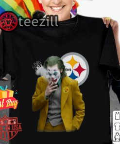 Joker Joaquin Phoenix Pittsburgh Steelers Tshirt