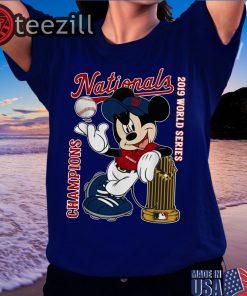 Mickey Mouse Washington Nationals 2019 World Series Champions Shirts