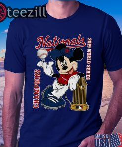 Mickey Mouse Washington Nationals 2019 World Series Champions TShirt
