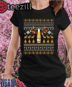 Reinbeer Corona Light Sweatshirts Reindeer Beer Christmas Shirt Beer Ugly Sweater Xmas Gift