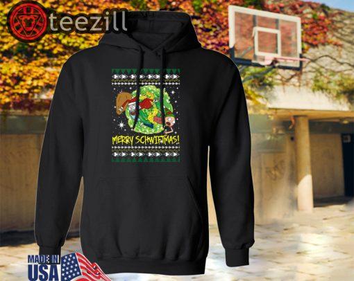 Rick and Morty Santa Claus Ugly Christmas Sweatshirts