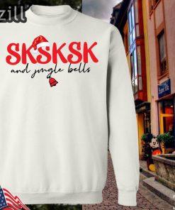 Sksksk Vsco Girl And Jingle Bells Christmas Sweatershirt