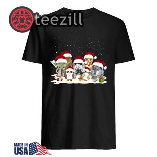 Star War R2D2 Chewbacca Trooper Christmas Shirt