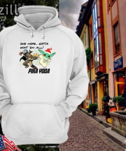 Stormtrooper and Baby Yoda one more gotta hunt 'em all' Pika Yoda hoodieshirt