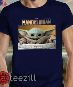 The Mandalorian The Child Pod Screenshot Logo T-Shirts
