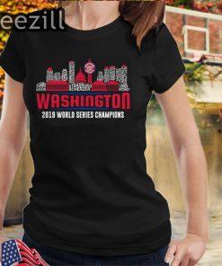 Washington Nationals World Series 2019 Champions all players Tshirts